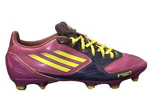 ADIDAS Adizero F-50 Purple Neon Green Cleats Soccer Shoes Womens Sneakers 8