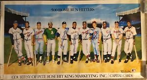 500 HOME RUN CLUB SIGNED LITHOGRAPH MIKEY MANTLE WILLIE MAYS HANK AARON (ALL 11)