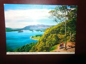 Postcard::Derwent Water From Surprise View The Lake District John HindeC1990