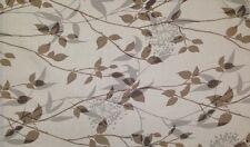 MAGNOLIA HOME SOHO LINEN CREAM BROWN LEAF VINE FURNITURE FABRIC BY THE YARD 54