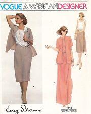 1970's VTG VOGUE Jacket,Blouse,Skirt Jerry Silverman Pattern 1842 Size 14.5 UNC