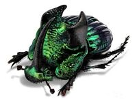 Phanaeus demon male green ONE REAL HORNED RHINOCEROS DUNG BEETLE PINNED