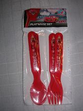 spoons forks flatware set disney cars lightening mcqueen spoon fork 3+  age