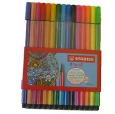 STABILO Fasermaler Pen 68 15er Kunststoff-etui