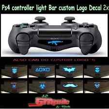 PS4 Controller Light Bar Decal Custom Personalised Logo 2x
