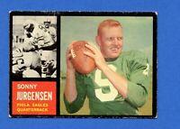 1962 Topps Football #115 Sonny Jurgensen Philadelphia Eagles