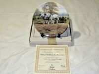 Royal Doulton Limited Edition Collectors Plate Their Drill To The Furrow 8 Inch
