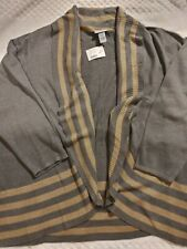 Catherines Gray Draped Cardigan Sweater 4X 30 32  Plus Size Top New