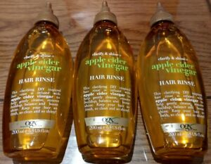 3 x OGX Apple Cider Vinegar Hair Rinse for Oily and Greasy Hair 200ml