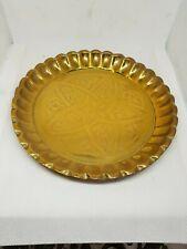 joli petit plat ou plateau marocain dinanderie en cuivre repoussé