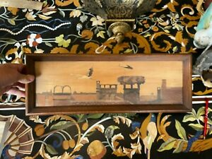 Charles Spindler 1865-1938 marqueterie Alsace MISE A PRIX A 1 EURO