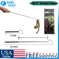 """39"""" Collapsible Snake Hook Stainless Steel Reptile Catcher Grabber Handling Tool"""