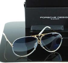 NEW Genuine PORSCHE DESIGN Titanium Gold Blue Aviator Sunglasses P 8478 W 69 MM