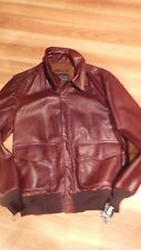 SCHOTT NYC A2  FLIGHT LEATHER JACKET SIZE-LARGE MADE IN USA  MODEL P- 51