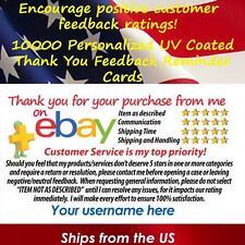 10000 UV GLOSS eBay CUSTOM PRINTED SELLER ID THANK YOU BUSINESS CARDS FREE SHIP