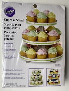 Wilton 3-Tier Treat Cake Cupcake Dessert Stand Party Display Serveware NEW