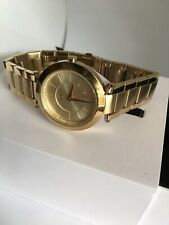 Dkny Stanhope Gold Dial Stainless Steel Strap Quartz Women's Analog Watch NY2286