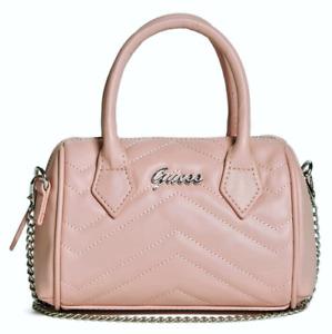 NEW GUESS Blaire Womens Handbag Barrel Satchel Crossbody Bag Blush Pink