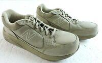New Balance Womens 10 WW928TN  Beige Suede Finish Rollbar Walking Shoes Sneakers