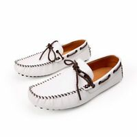 Men Driving Shoes Slip On Loafers Leather Moccasins Casual Comfortable Soft Lace