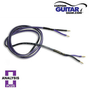 Analysis Plus Clear Oval Speaker Cables, 14 Gauge, 4ft Length, PAIR