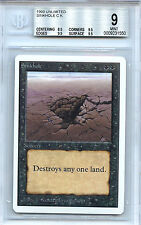 MTG Unlimited Sinkhole Magic WOTC BGS 9.0 (9) NM/MT+ Card 1550