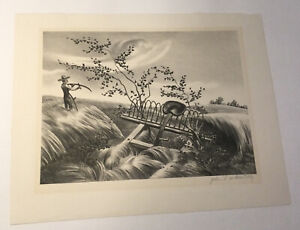 Lithograph John S. de Martelly Pencil Signed 1938 Listed Artist