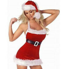 Santa Claus Dress Women Red Christmas Adult Costume Girl Xmas Party Outfit
