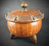 Vintage Boîte à bijoux en bois style rustique - bonbonnière