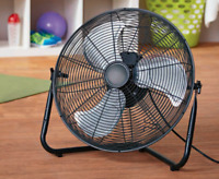 Black 20 High Velocity Fan 3-Speed Portable Home Office Floor/Wall Cool Blower