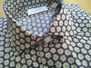 NWT Brooks Brothers Golden Fleece Daisy Floral 16-34 M Medium MSRP $225