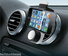Car Air Vent Cell Phone Holder for Handsfree Use & GPS Navigation (BLACK MOUNT)