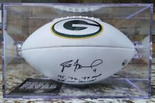 💥 BRETT FAVRE SIGNED GREEN BAY PACKERS FOOTBALL w/ FAVRE COA & FREE CASE! 💥