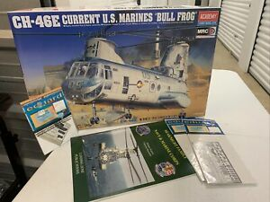 "1/48 Academy #2226 CH-46E USMC ""Bull Frog"" With Extras!!"