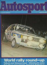 AUTOSPORT Jan 14th 1982 * indagine Mondiale Rally stagionale