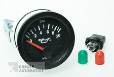 VDO Cockpit Vision Druckanzeiger Manometer Motoröl 10 bar, 12 Volt, Ø 52 mm