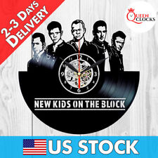 Nkotb Clock Record Wall Vinyl Room Decor New Kids on the Block Xmas Gifts Stuff