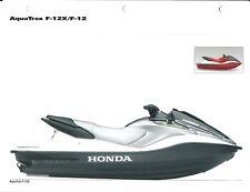 Watercraft Brochure - Honda - AquaTrax F-12 F-12X - Photo - 2004 (SH138)