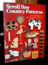 Scroll Saw Country Patterns by Spielman & Valitchka 1990 door stops, shelves