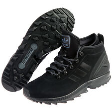 ADIDAS ZX FLUX WINTER BOOTS NEW MEN'S SIZE 10 BLACK AQ8433