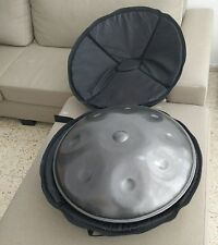 NEW Harmonic Handpan HIJAZ tuned 9-note +Bag +Base Ring *Steel handrum hung Art*