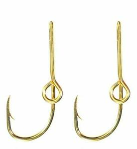 Eagle Claw Hat Fish Hook Set of Two Gold Hat Hook pins Plus a FREE Deer Decal...