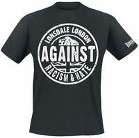 Lonsdale London Against Racism T-Shirt schwarz M