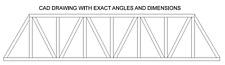 """36"""" O Scale Truss Bridge PLANS"""