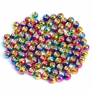 Maxcatch Rainbow Color Tungsten Fly Tying Beads Fly Fishing Bead 25/100pcs