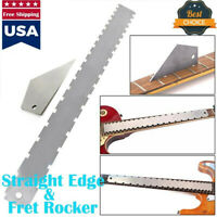 Pro Designed Guitar Neck Notched Straight Edge And Fret Rocker Luthier Tools TTT