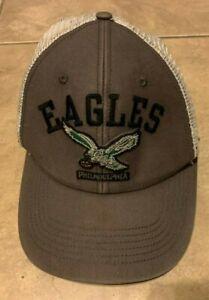 Philadelphia Eagles NFL '47 Brands Olive Green & White Hat Cap Mesh Strap Back