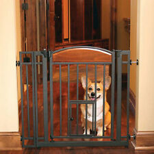 Indoor Walk Through Gate with Small Pet Door Cat Dog Puppy Pen Safety Fence Home