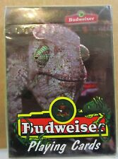 Budweiser King of Beers 1998 Anheuser-Busch Lizard Poker Playing Cards Nip Usa