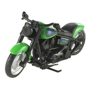 Hot Wheels Street Power Motorcycle - Collectible ~ Green Fat Ride